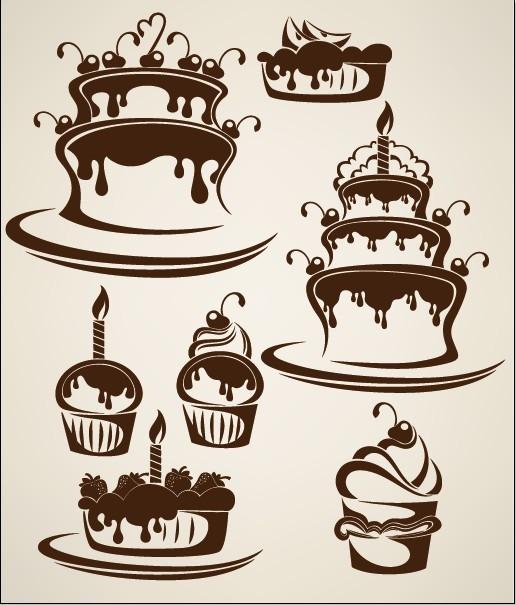 وکتور کیک تولد, وکتور رایگان کیک