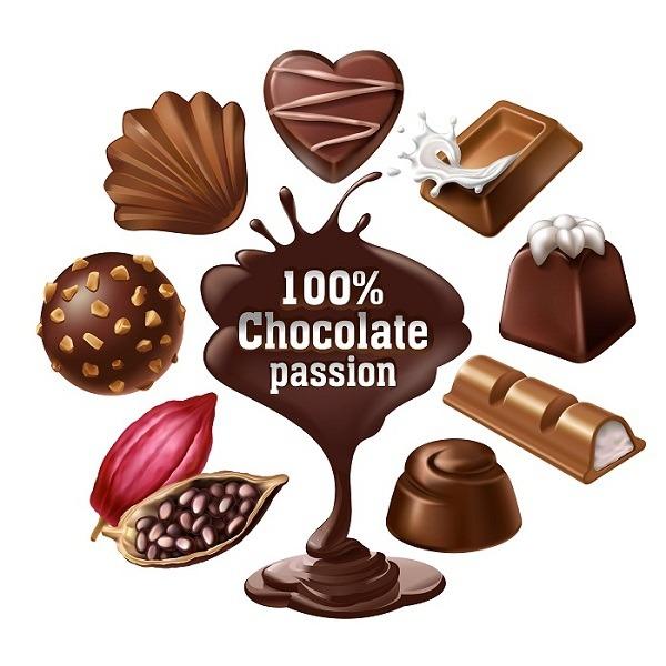 دانلود رایگان وکتور انواع شکلات, دانلود وکتور شکلات