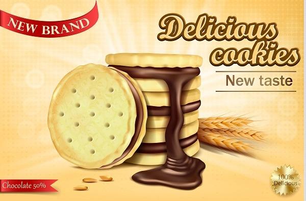 دانلود وکتور بیسکوئیت ساقه طلایی شکلاتی, دانلود عکس با کیفیت بیسکوئیت