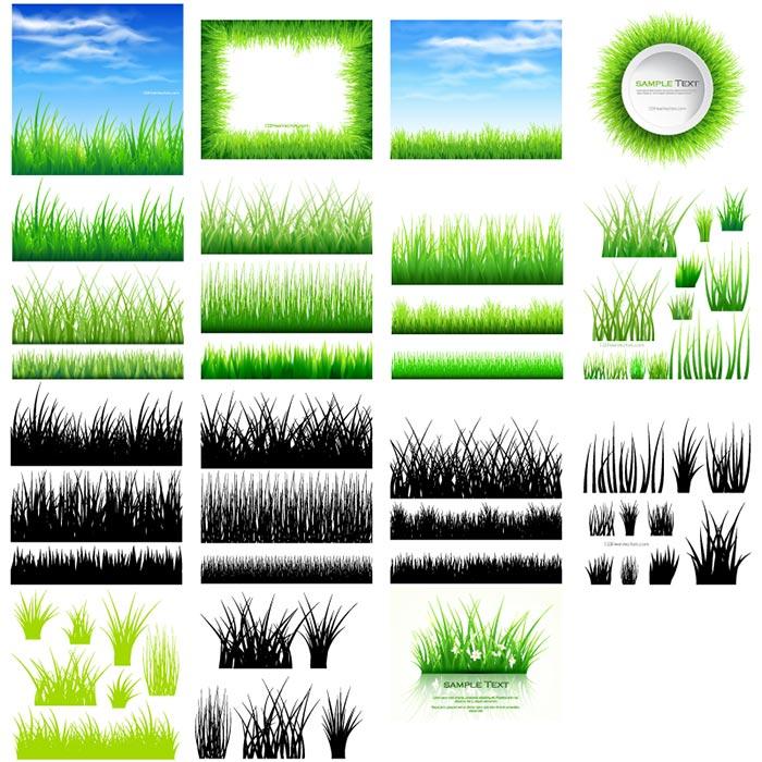 دانلود وکتور سبزه با کیفیت , وکتور آسمان و سبزه , دانلود وکتور