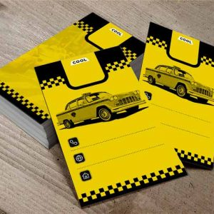 کارت ویزیت لایه باز رایگان تاکسی
