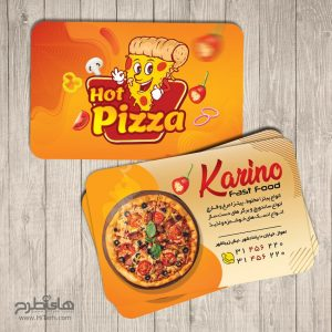 دانلود کارت ویزیت پیتزا فروشی