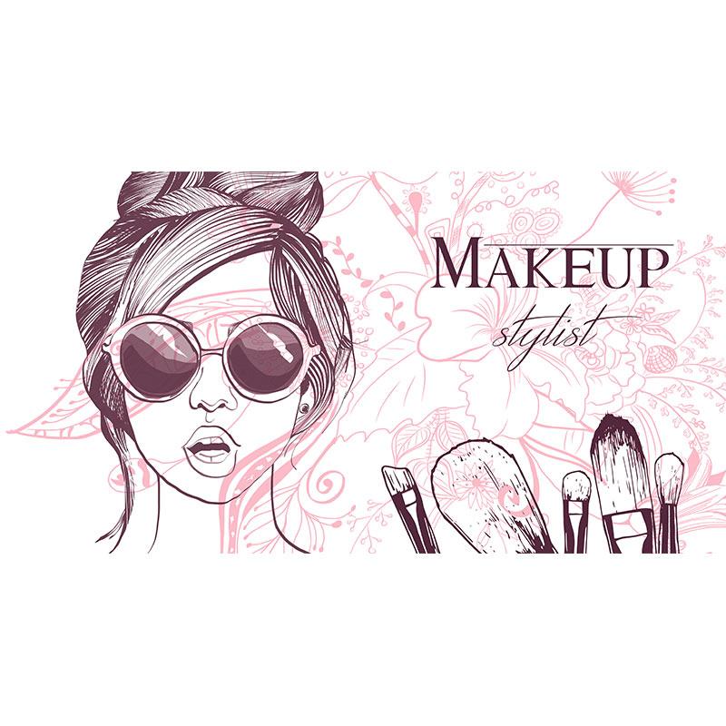 وکتور آرایشگاه زنانه, دانلود وکتور دختر مناسب سالن آرایشگاه زنانه, وکتور دختر, وکتور makeup زنانه