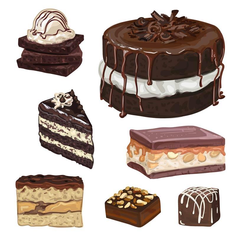 وکتور کیک و شیرینی,وکتور شکلات,وکتور رایگان کیک,وکتور کیک رایگان