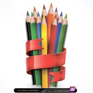 وکتور مداد رنگی, وکتور مدرسه,وکتور رایگان